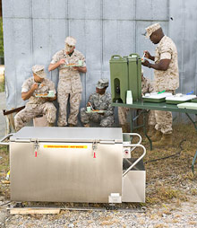 Tray Ration Heating System and Marines